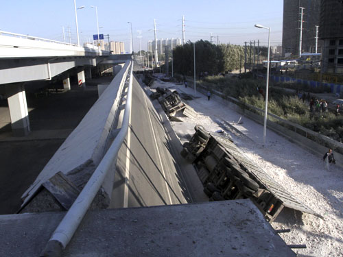 #CHINA-HEILONGJIANG-HARBIN-BRIDGE COLLAPSE-CASUALTIES (CN)