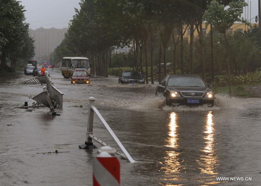 La ville de Changchun frappée par le typhon Bolaven