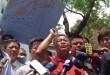 Manifestation de Pêcheurs devant les bureaux de représentation du Japon à Taipei